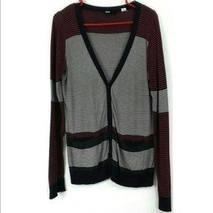 BDG Urban Outfitters Stripe Cardigan Sweater Large